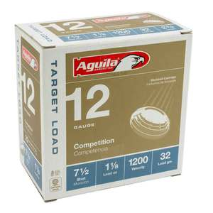 Aguila Competition 12 Gauge 2-3/4in #7.5 1-1/8oz Target Shotshells - 25 Rounds