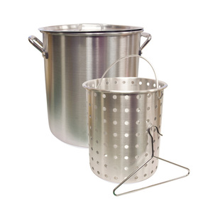 Camp Chef Aluminum Pot with Basket