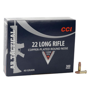 CCI AR Tactical 22 Long Rifle 40gr CPRN Rimfire Ammo - 300 Rounds