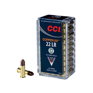 CCI Copper-22 22 Long Rifle 21gr Copper-HP Rimfire Ammo - 50 Rounds