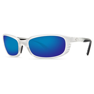Costa Brine Polarized Sunglasses - Matte Crystal/Blue Lens