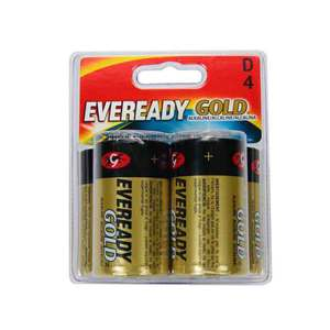 Eveready D Cell Alkaline 4 Pack