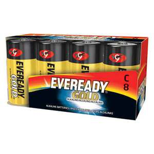Eveready Gold C Batteries 8 Pack