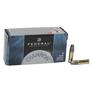 Federal Champion 22 Long Rifle 40gr LRN Rimfire Ammo - 500 Rounds