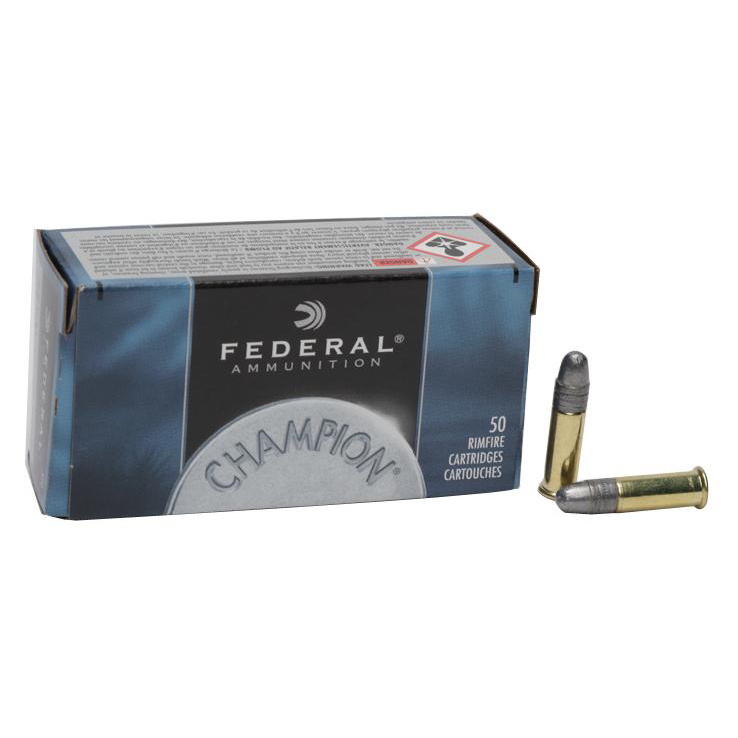 federal champion 22 long rifle 40gr lrn rimfire ammo 500 rounds