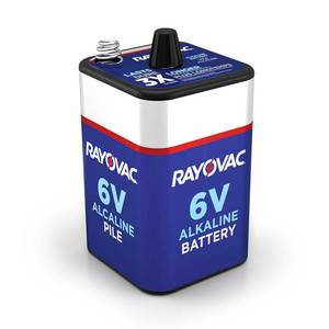 Rayovac 6-Volt Spring Terminals Alkaline F Cell Battery