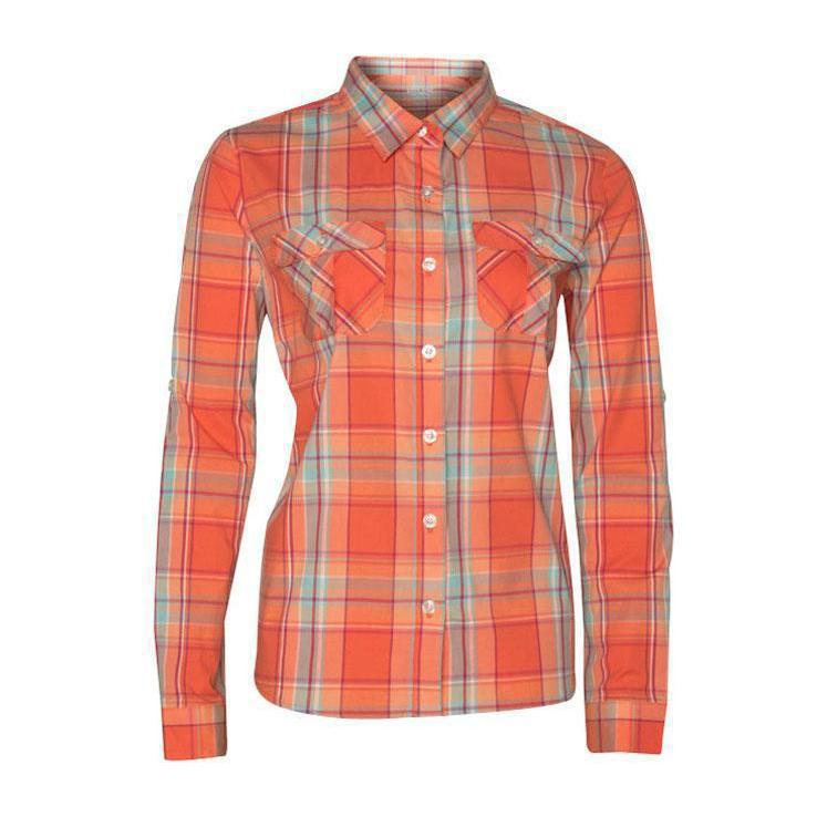 5f3ce83b7141af Rustic Ridge Women's Plaid Long Sleeve Shirt - Coral XL ...