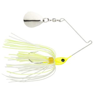 Strike King Micro King Spinnerbait - Chartreuse Head/Chartreuse/White Skirt, 1/16oz