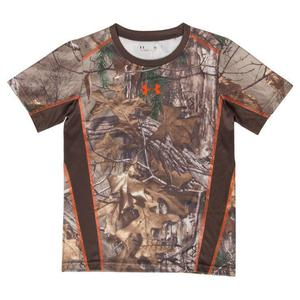 Under Armour Youth Boy's Realtree Timber Camo Snare Short Sleeve T-Shirt